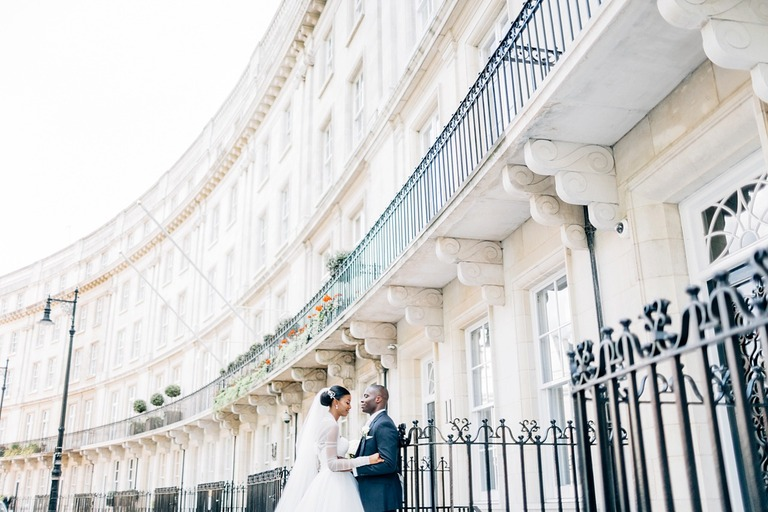 Wedding Couple at the Knightsbridge in London