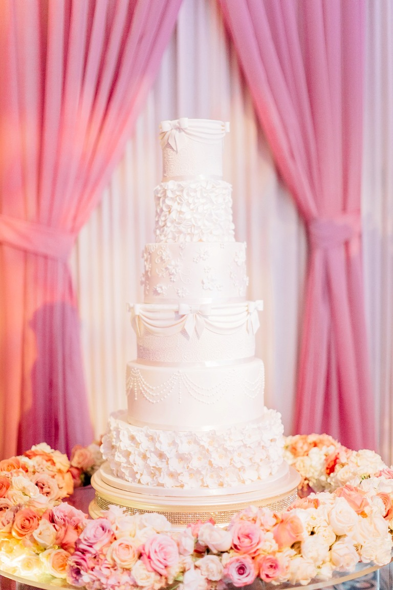Wedding Cake at the Dorchester Hotel in London
