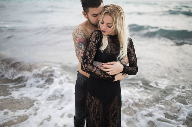 palma engagement on the beach