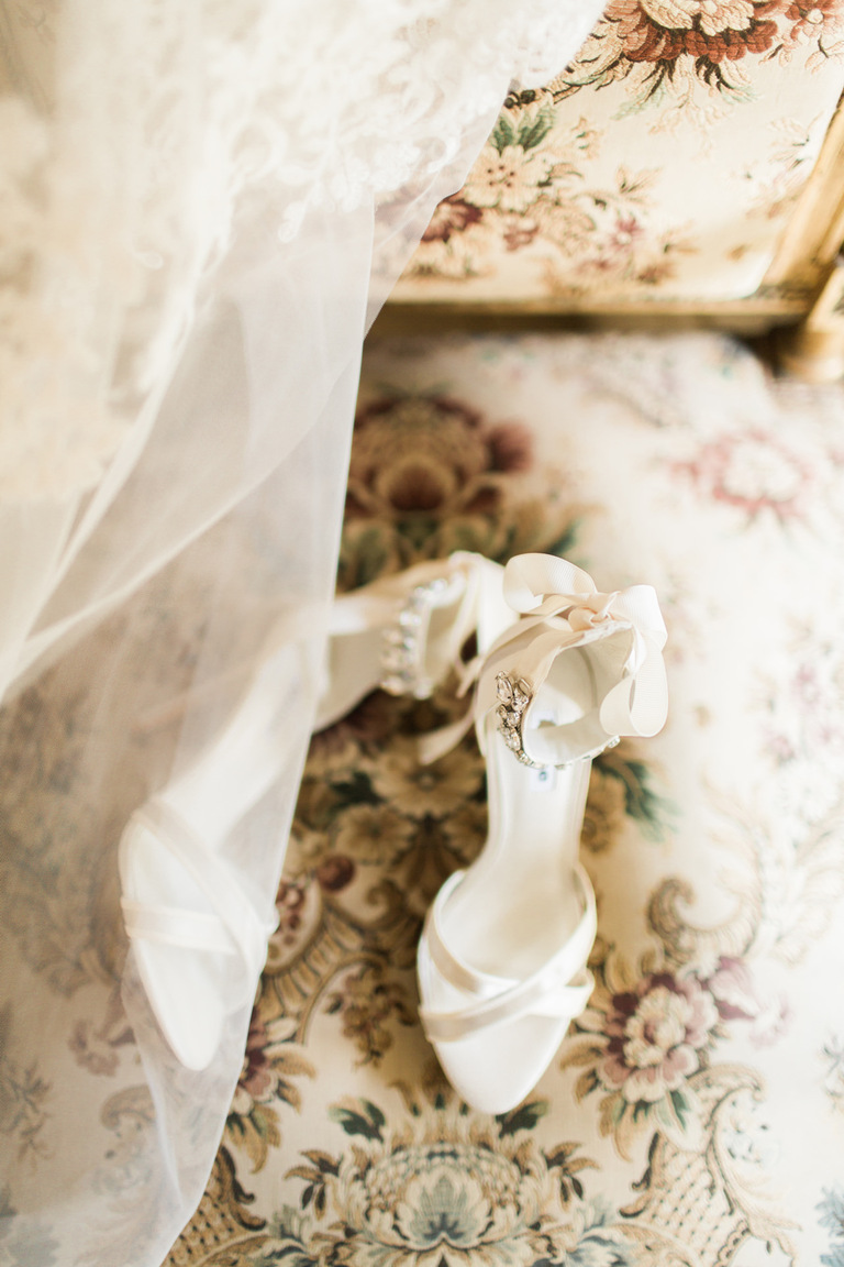 Wedding Shoes at Chateau la Durantie in France